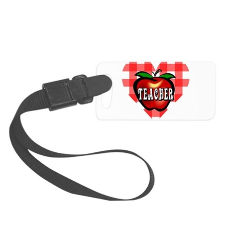 teacherapple2b.png Small Luggage Tag