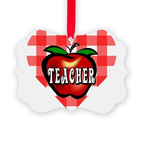 teacherapple2b.png Picture Ornament