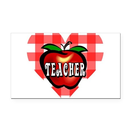 teacherapple2b.png Rectangle Car Magnet