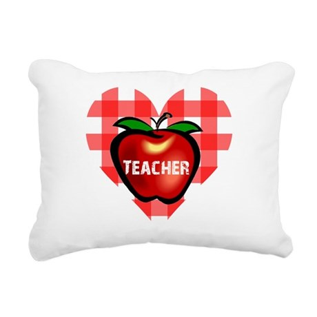 teacherapple.png Rectangular Canvas Pillow