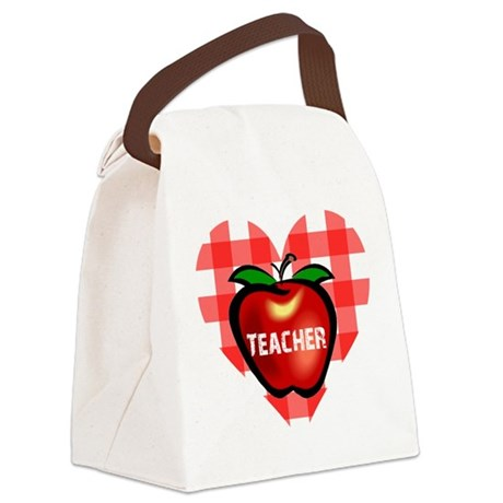 teacherapple.png Canvas Lunch Bag