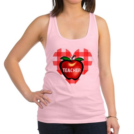 teacherapple.png Racerback Tank Top
