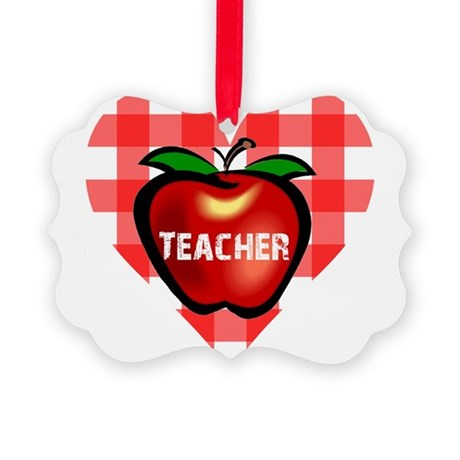 teacherapple.png Picture Ornament