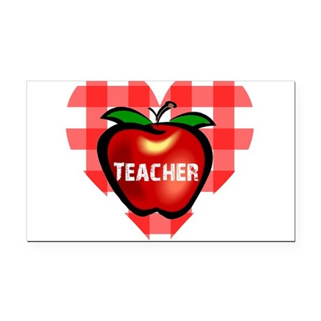 teacherapple.png Rectangle Car Magnet