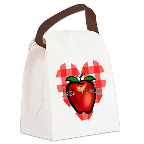teacherapple2.png Canvas Lunch Bag