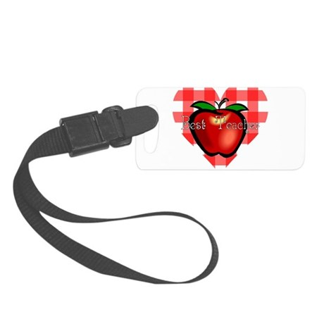 teacherapple2.png Small Luggage Tag