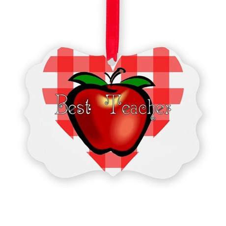 teacherapple2.png Picture Ornament