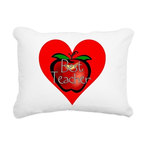teacherapple2c.png Rectangular Canvas Pillow