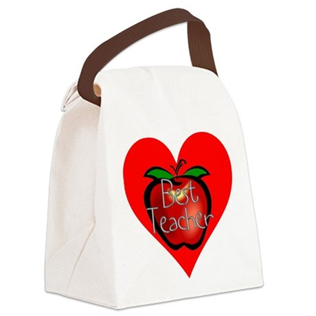 teacherapple2c.png Canvas Lunch Bag