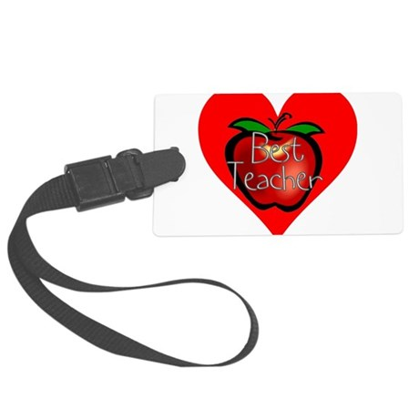teacherapple2c.png Large Luggage Tag