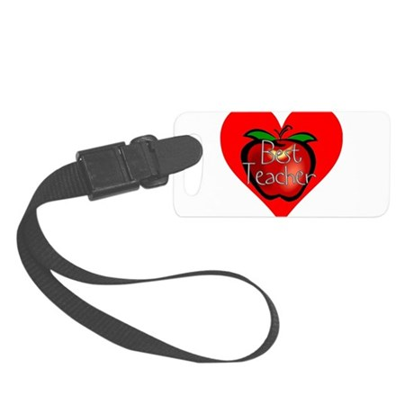 teacherapple2c.png Small Luggage Tag