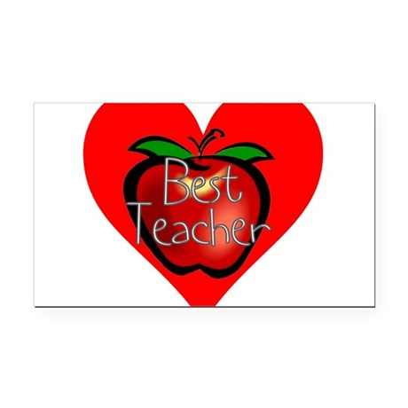 teacherapple2c.png Rectangle Car Magnet