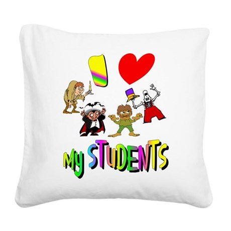 students3.png Square Canvas Pillow