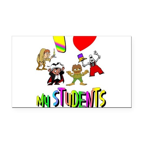 students3.png Rectangle Car Magnet