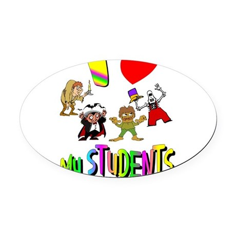 students3.png Oval Car Magnet