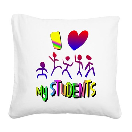 students2a.png Square Canvas Pillow