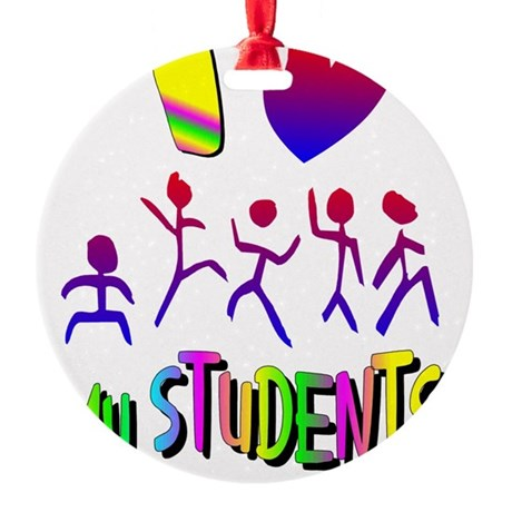 students2a.png Round Ornament
