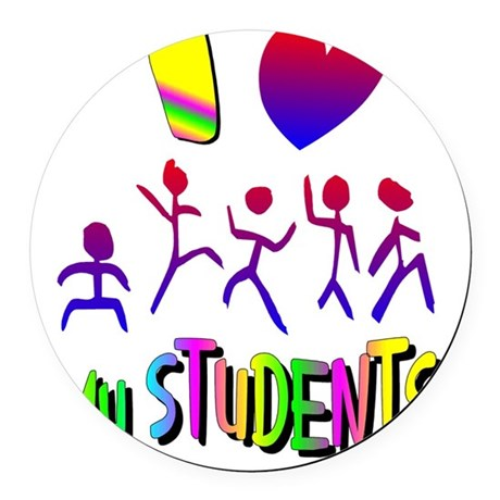 students2a.png Round Car Magnet