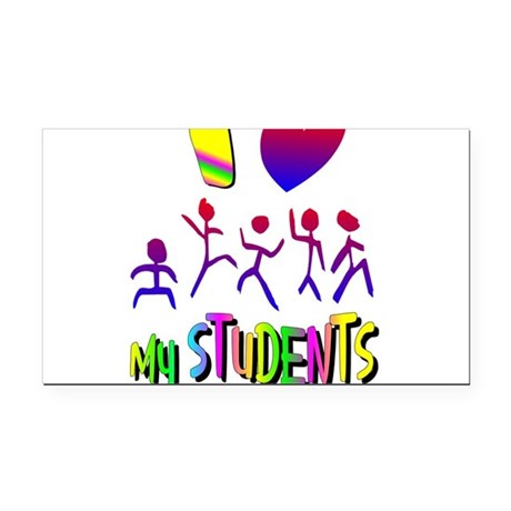 students2a.png Rectangle Car Magnet