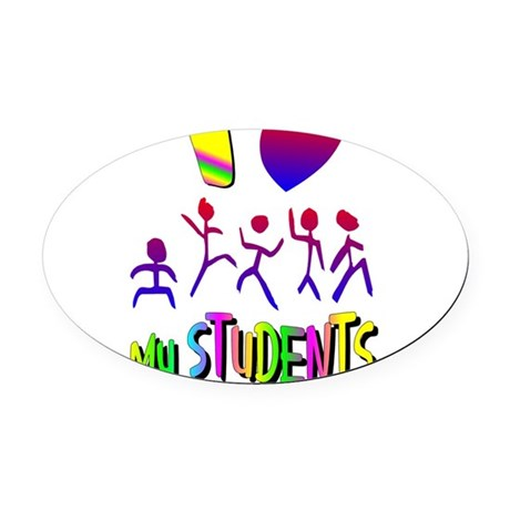 students2a.png Oval Car Magnet
