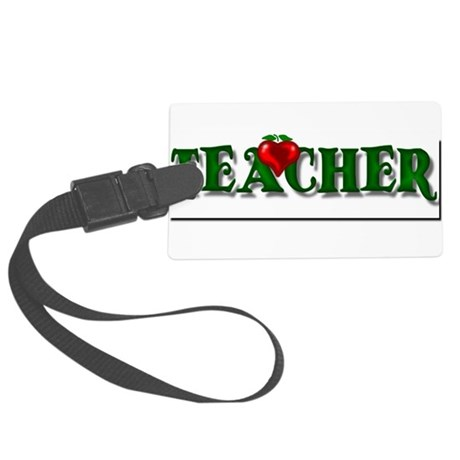teacher1.png Large Luggage Tag