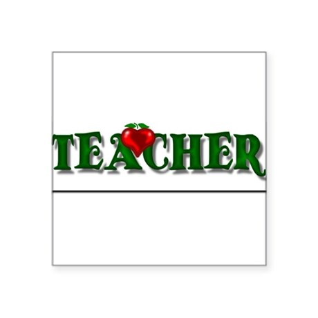 "teacher1.png Square Sticker 3"" x 3"""