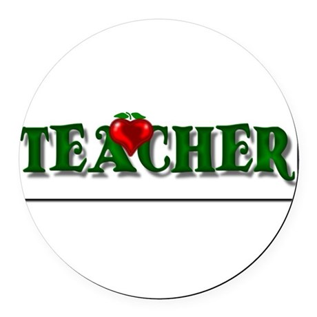 teacher1.png Round Car Magnet