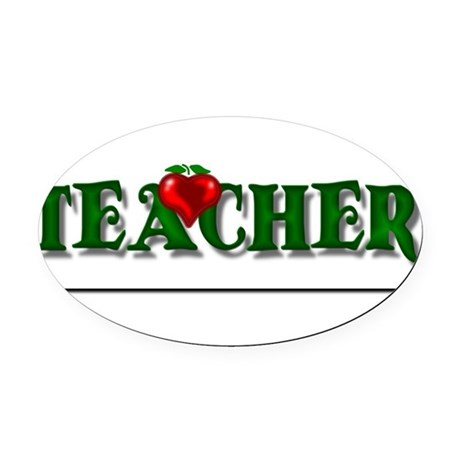 teacher1.png Oval Car Magnet