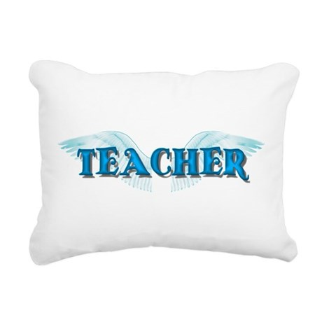 teacher2b.png Rectangular Canvas Pillow