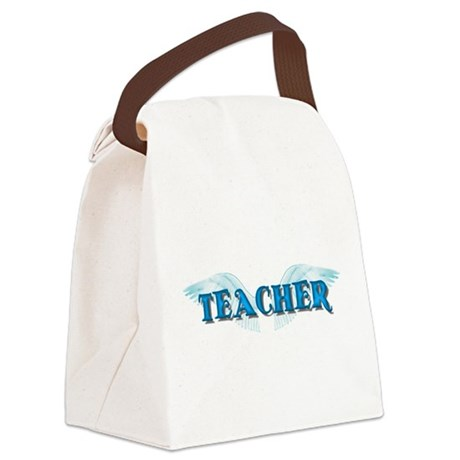 teacher2b.png Canvas Lunch Bag