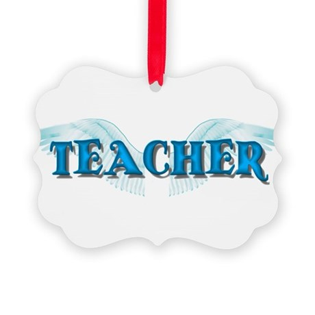 teacher2b.png Picture Ornament