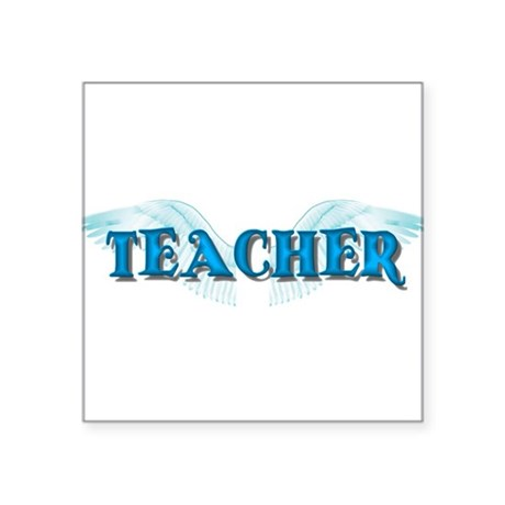 "teacher2b.png Square Sticker 3"" x 3"""