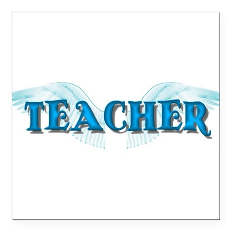 "teacher2b.png Square Car Magnet 3"" x 3"""