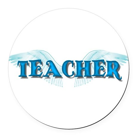 teacher2b.png Round Car Magnet