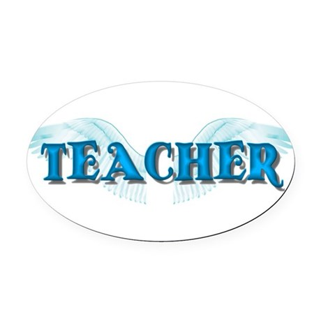 teacher2b.png Oval Car Magnet