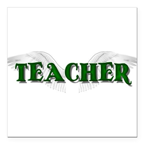 teacher2.png Square Car Magnet 3&quot; x 3&quot;