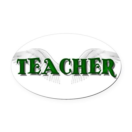 teacher2.png Oval Car Magnet
