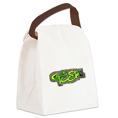 geek1b.png Canvas Lunch Bag
