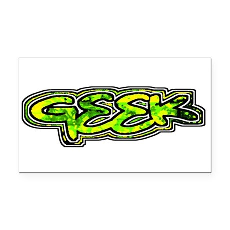geek1b.png Rectangle Car Magnet