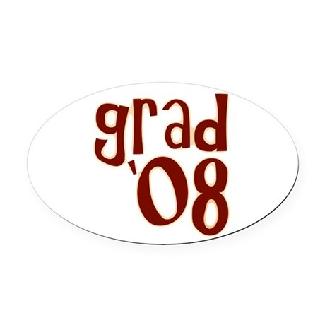 08i.png Oval Car Magnet
