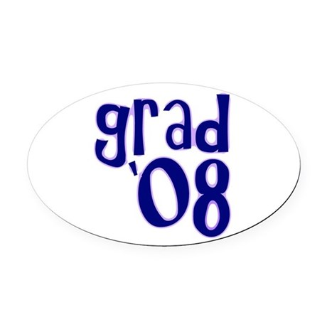 08h.png Oval Car Magnet