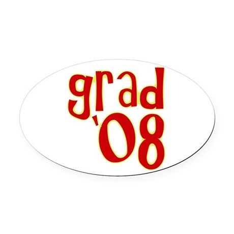 08b.png Oval Car Magnet