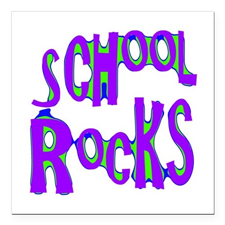 "rocks2c.png Square Car Magnet 3"" x 3"""