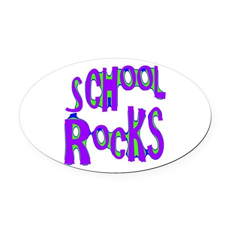 rocks2c.png Oval Car Magnet