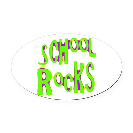 rocks2a.png Oval Car Magnet