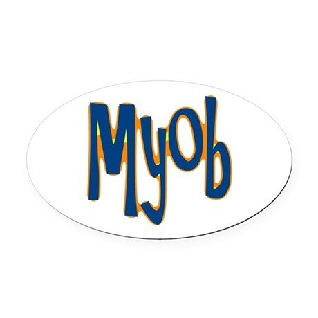 myob1.png Oval Car Magnet