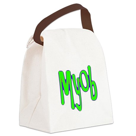 myob1a.png Canvas Lunch Bag
