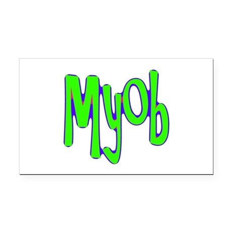 myob1a.png Rectangle Car Magnet