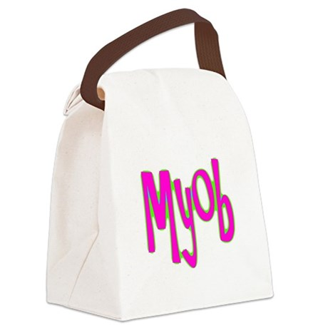myob1c.png Canvas Lunch Bag