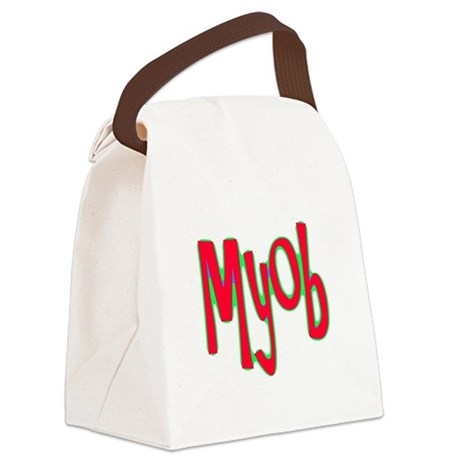myob1d.png Canvas Lunch Bag